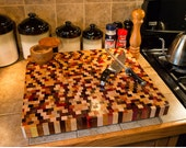Beautiful Handcrafted End Grain Multiwood Countertop Large End Grain Butcher Block Large Cutting Board **FREE SHIPPING to lower 48!**
