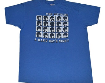 The Beatles Hard Day's Night Shirt 1980s vintage