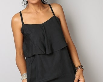 Elegant Top - Black Halter Top : Sunny Dreams Collection IV