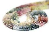 Sapphire Micro Faceted Rondelles Half Strand Natural Multi Color Precious Gemstones