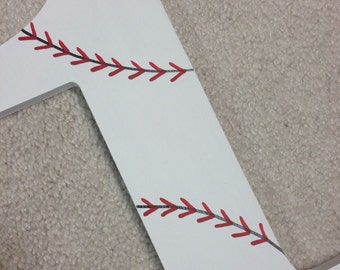 Baseball - photo prop - number 1 - hand painted - wooden - custom