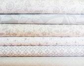 Light Greys Fabric Bundle -  Half Yard Bundle - 6 Half Yard pieces (B340)
