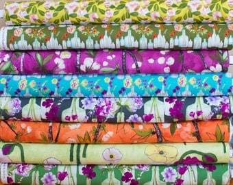 Vignette #1 by Michael Miller Fabric Bundle -  Fat Quarter Bundle - 8 fat quarter pieces (B331)