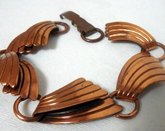 AS IS Copper Bracelet, Copper Bracelet As Is Marked Copper Bell, Copper Bracelet for RePurposing, Repairing, Recycling- As IS Copper Jewelry