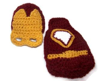 Newborn superhero - Baby Boy Photo Prop - Superhero Cape - Newborn Prop - Mask - Baby Hat - Crochet Hat - Newborn Prop - Superhero Costume
