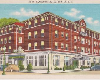 Sumter, North Carolina, Claremont Hotel - Vintage Postcard - Postcard - Unused (G1)