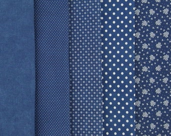 JEANS STORY printed woven cotton in five different styles
