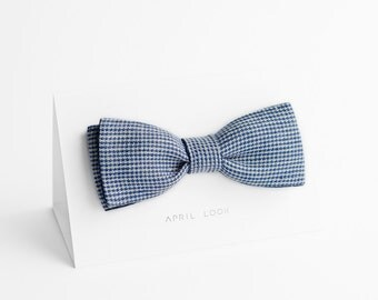 Houndstooth bow tie - double sided, MADE TO ORDER