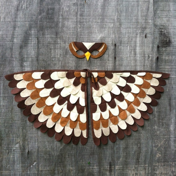 Owl costume wings
