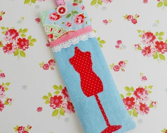 Sewing Themed Lavender Filled Fabric Bookmark