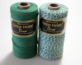 CLOSEOUT - Baker's Twine - Palo Verdes Diva Stripe Divine Twine - Full Spool -240 yards