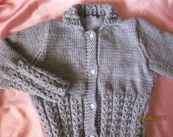 Gray Lace Cardigan