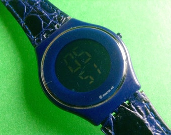 Swatch Watch Skin blue Digital LCD Swatch large watch Swatch watch Swiss watch