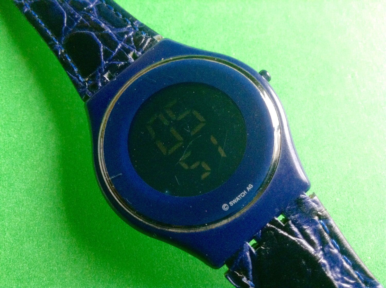 swatch skin blue digital lcd swatch large swatch