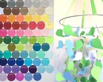 Custom Bird Mobile / / / Choose Your Colors  / / / Nursery Mobile, Nursery Decor, Photo Prop, Baby Shower, Crib Mobile