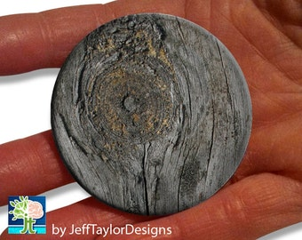 Weathered Wood Pocket Mirror (Printed)