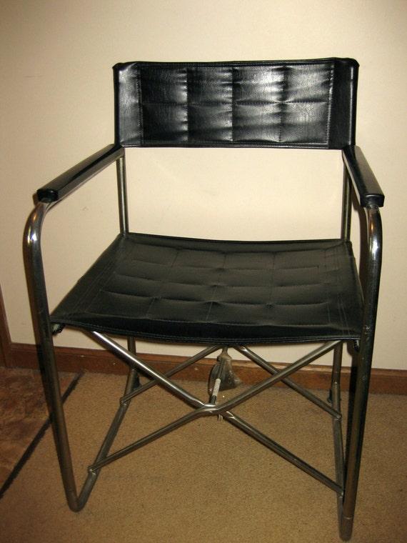 Vintage Leather Amp Chrome Utida X Folding Chair