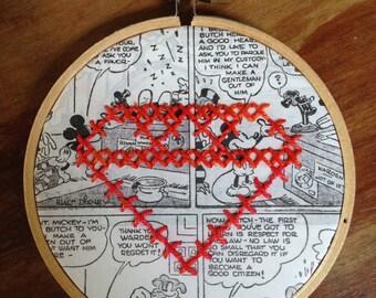 Diamond cross stitch