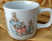 Vintage Wedgwood Beatrix Potter Peter Rabbit Child Mug - Frederick Warne & Co. 1991