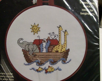 Dimensions Noah's Ark Counted Cross Stitch Kit Original Package Vintage