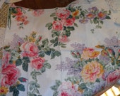 4 Shabby chic multi colored rose vintage dining room table napkins