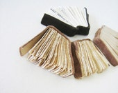 Book Art - Au pays de la vie moderne  (In the Country of Modern Life) - miniature books on paper, tea-stained paper, leather, elegant, 8x10