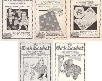 Aunt Martha's WorkBasket Volume 10 c1944-1945 magazine