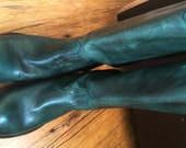 Frye Boots - Teal Blue Green - Super Soft Leather - Excellent Condition - Size 6-1/2B