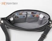 Waxed Canvas Crossbody Purse, iPhone 6 Plus Otterbox Cross Body Bag -Large