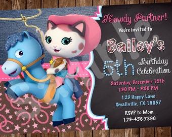 Sheriff Callie Birthday Invitation (SC01)