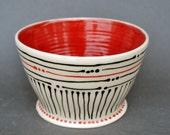 Ceramic Serving Bowl, Handmade Salad Bowl, Pottery Serving Bowl, Vegetable Bowl