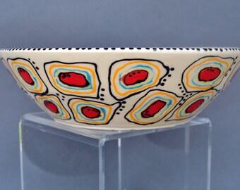 Large Ceramic Serving Bowl, Wheel thrown Salad Bowl, Pottery Serving Bowl