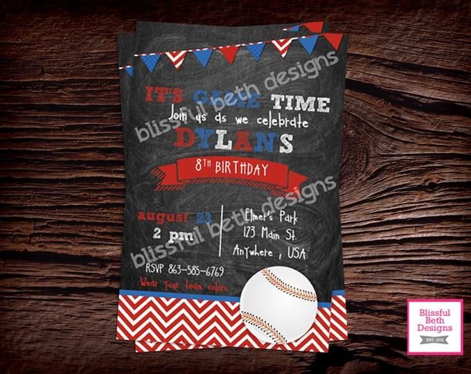 BASEBALL BIRTHDAY INVITATION  Baseball Birthday Invitation, Printable Baseball Birthday Invitation, Baseball Birthday Invite, Baseball