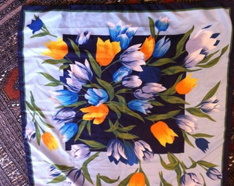 Vintage Tulip Scarf or Table Cover