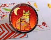 Funky Cats Moon Chic Abstract Drawer Pull Cabinet Knob Handle