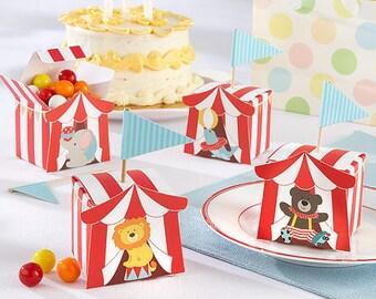 Circus Favor Boxes Circus Party Boxes Birthday Gift Boxes Party Favor Boxes Birthday Favor Boxes Circus Animal Favors Circus Favors