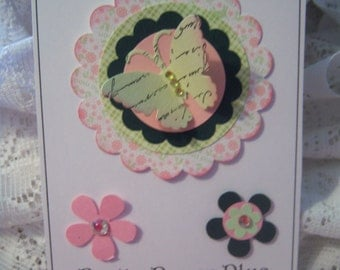 Layered Dimensional Paper Embellishment for Cardmaking,Scrapbooking,Tags