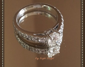 Incredible GIA brilliant cut diamond and platinum engagement ring by Kay