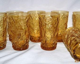 8 - Anchor Hocking Milano-Desert Gold Juice Glasses