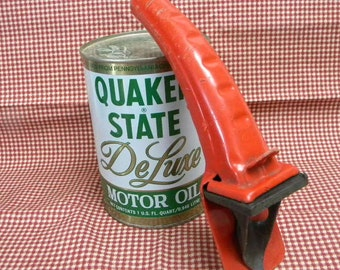 Red oil can spout mid century vintage  garage tool
