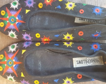 PRIMA    ///   Canvas Embroidered Flats