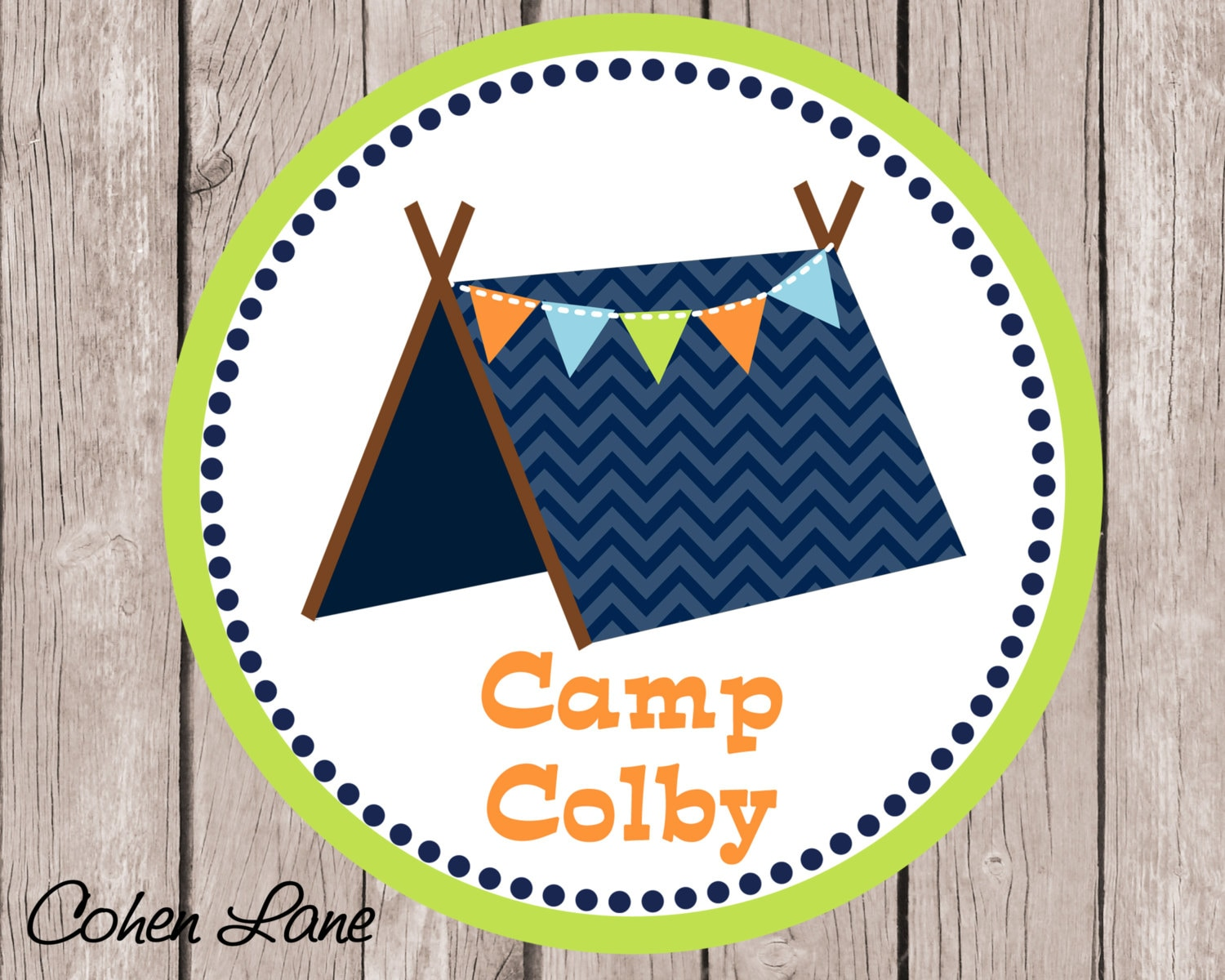 printable personalized chevron camping iron on tshirt transfer design  camp out iron on transfer