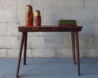 RECLAIMED mid century Modern style CONSOLE bench Side TABLE