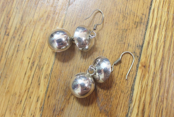 Chiming Earrings / Vintage All Sterling Drop Earrings / Musical Modernist Jewelry