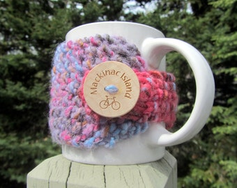 Mackinac Island Up North Michigan Coffee Cup Cozy - Perfect for Gift Giving or Keeping and Environmentally Friendly