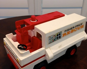 Fisher Price Rescue vehicle 1974 with extending ladder