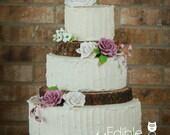 TREASURY ITEM - 4 Rustic Tree slices - Rustic wedding Cake Stand - Wood cake stand - Wood tree slices - Weddings - Wedding cake