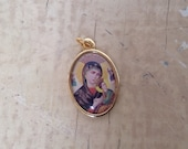 Holy Mary medal pendant, made in Italy