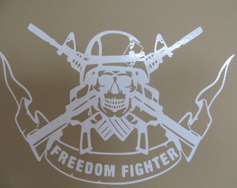 Freedom Fighter vinyl decal