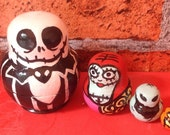 Nightmare before Christmas 4 piece hand painted nesting dolls